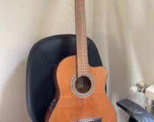 گیتار کلاسیک پیکاپدار cort ac250cf + کاور گیتار